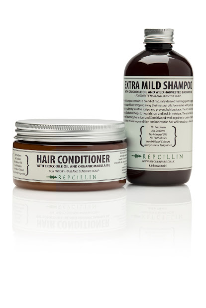repcillin shampoo and hair conditioner