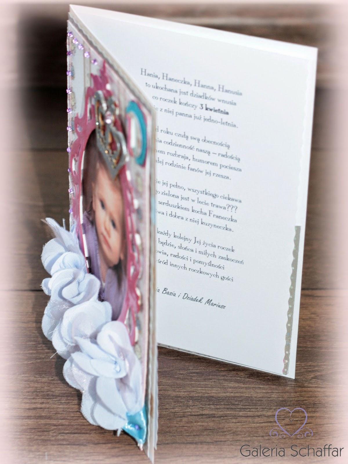 indywidualna kartka z życzeniami na roczek pomysł na prezent handmade wrocław cardmaking