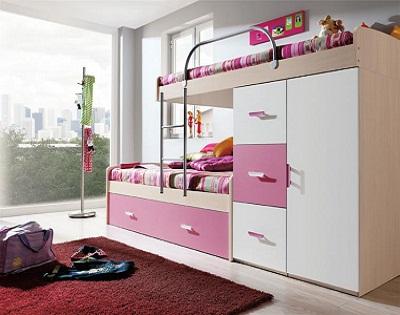 Decoracion camas vers tiles para dormitorios de ni os y for Roperos para cuartos de ninas
