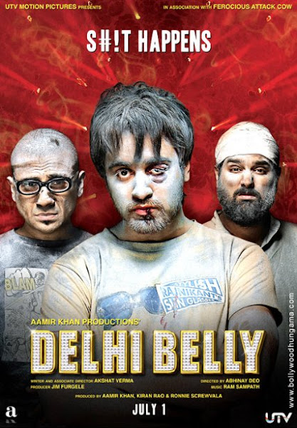 Poster Of Delhi Belly 2011 720p DVDRip Dual Audio