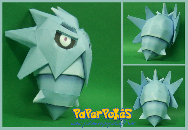 Pokemon Pupitar Paper Model v2