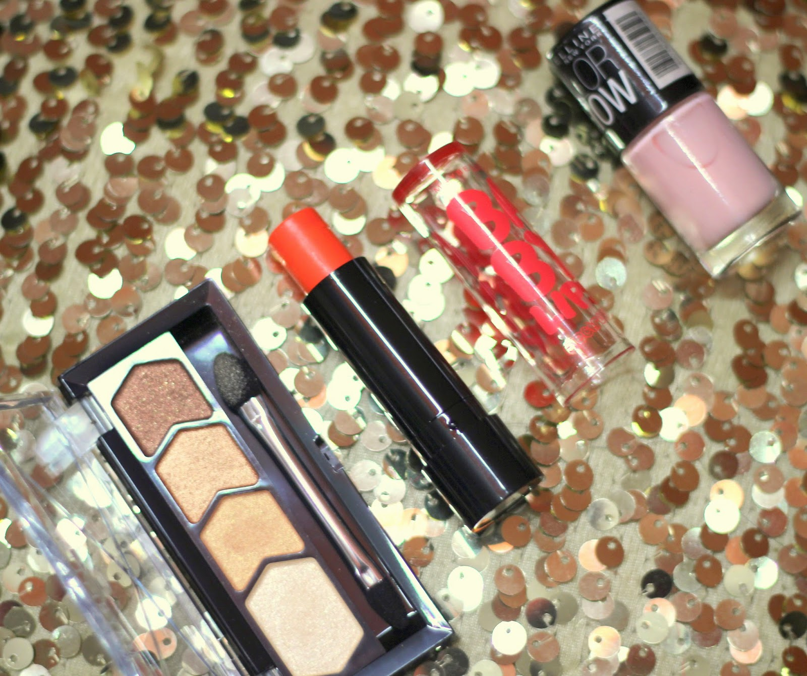 SSU Beauty Buys | Maybelline Diamond Glow Eye Shadow, Electro Pop Oh Orange and Color Show Nail Polish in Constant Candy