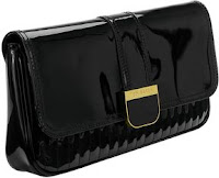 Benet Quilted Clutch Bag In Black