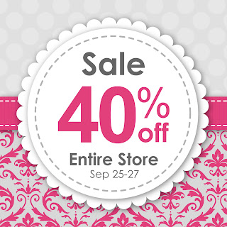 Fall Sale 40% off Entire Store