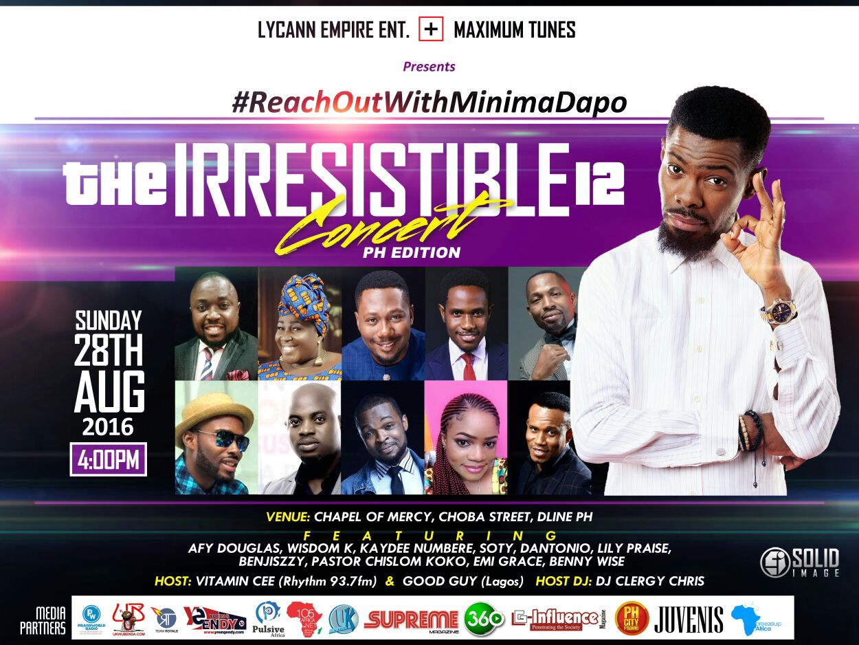 Event | The Irresistible 12 Concert #ReachOutwithMinimaDapo Live this August 2016