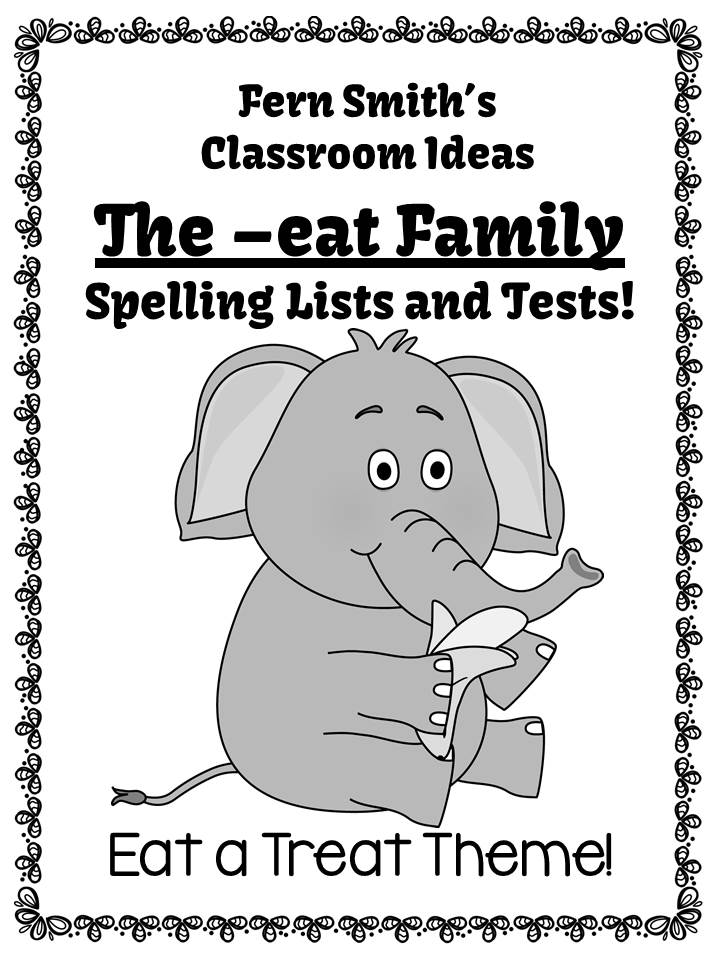 Fern's Freebie Friday ~ FREE Spelling The -eat Family Word Work Lists and Tests