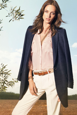 Moda Massimo Dutti primavera 2013 camisa mujer