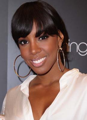 Kelly Rowland Gold Hoop Earrings
