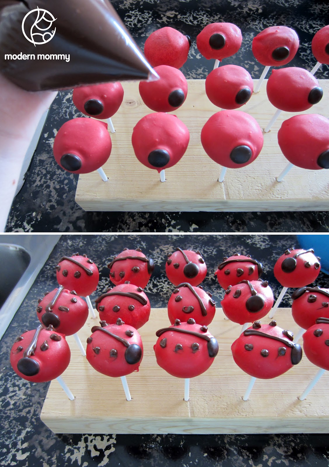 Modern Mommy Make It Monday Ladybug Cake Pops