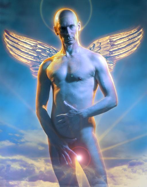 John Dobson angel self-portrait