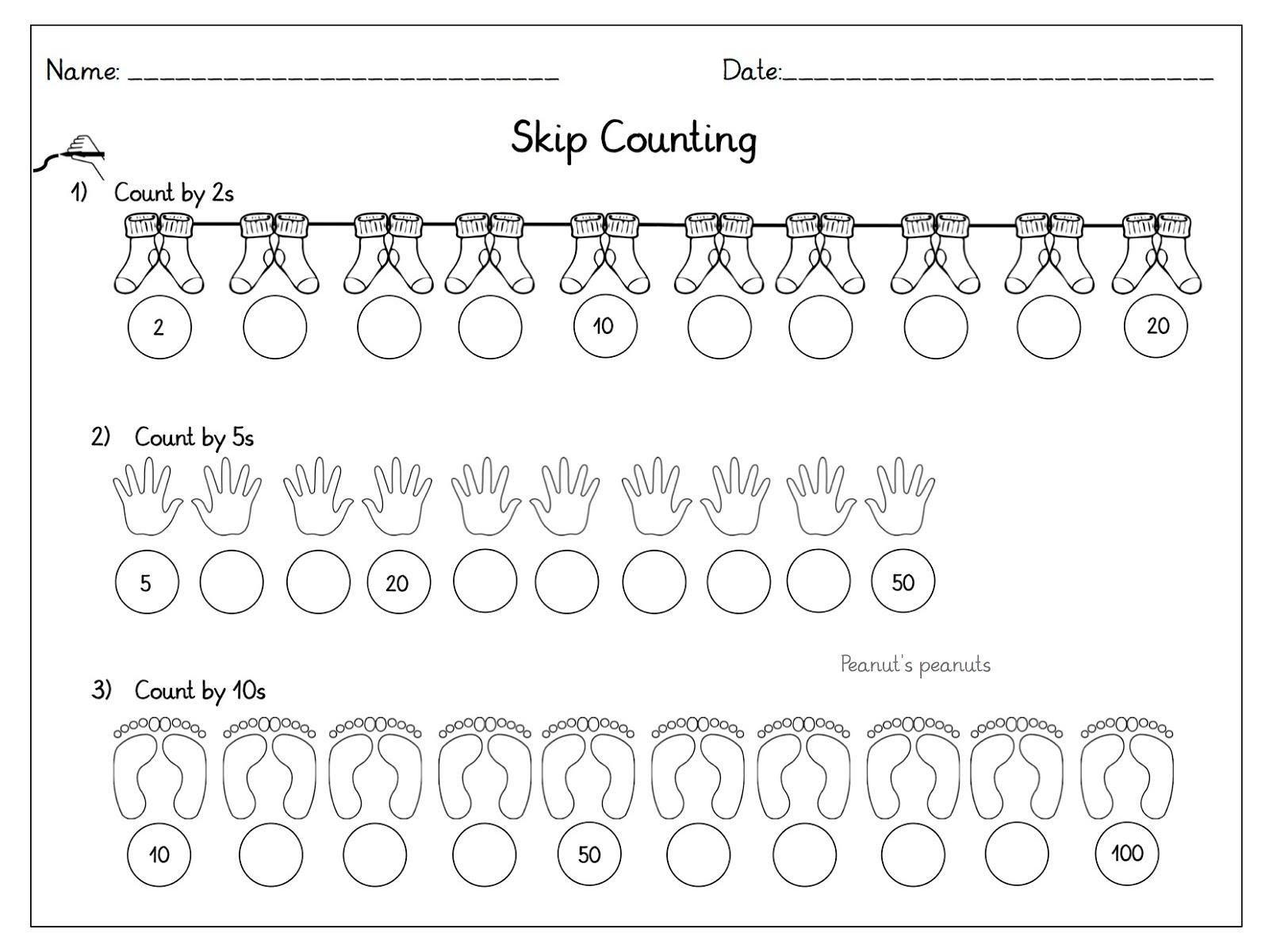 Peanut\'s peanuts: In Schritten zählen - Skip Counting