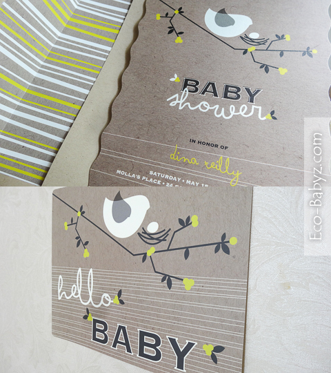 minted baby shower birds decor