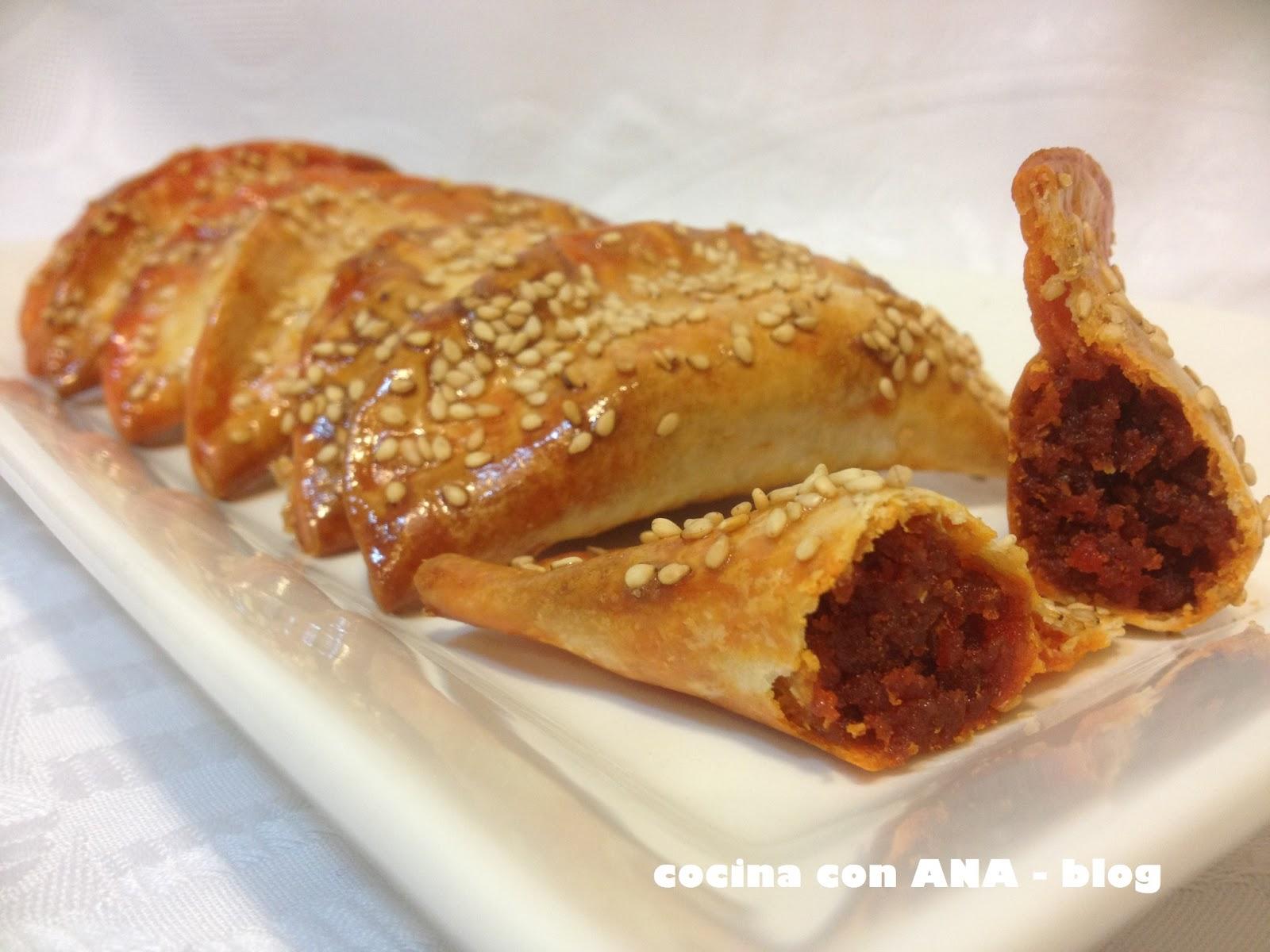 Cocina con ana empanadillas de sobrasada y miel - Ana cocina facil ...