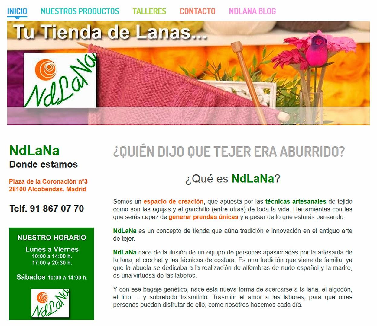 ndlana tienda lanas Alcobendas