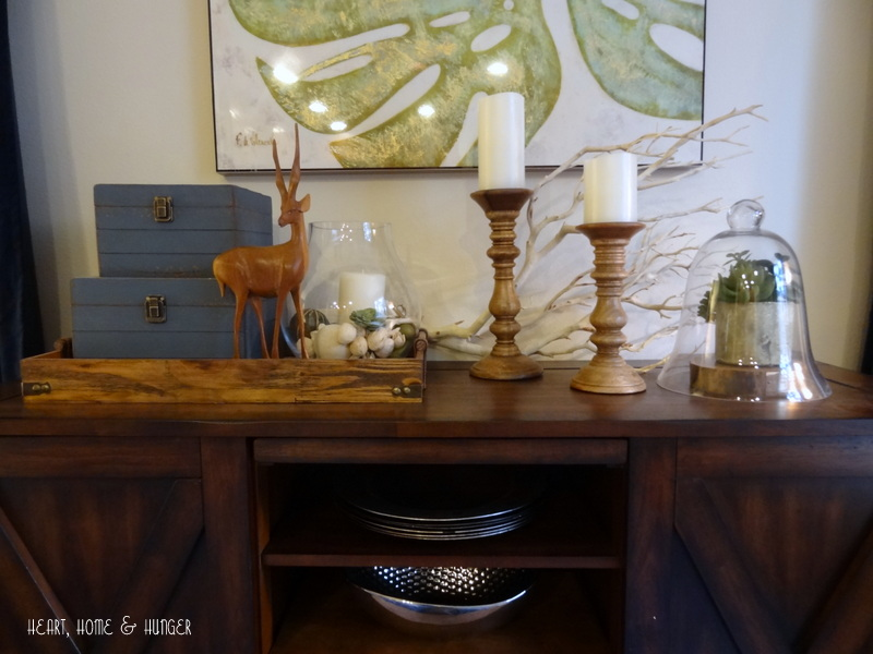 how to style a book shelf or console table