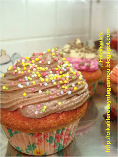 Cupcakes με buttercream topping