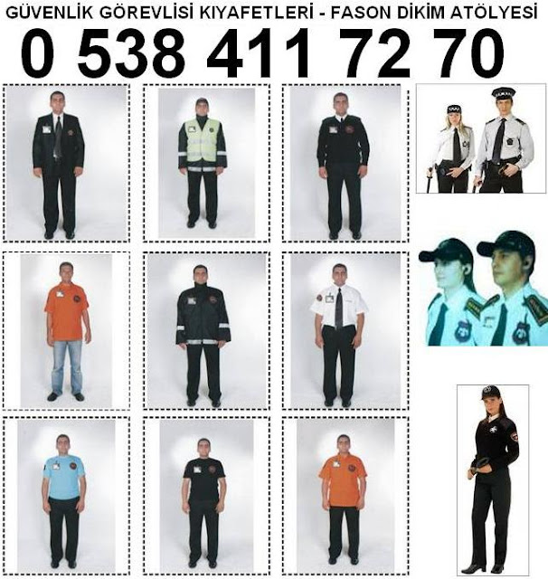 fason güvenlik görevlisi kıyafetleri diken yerler güvenlik elbise dikim istanbul