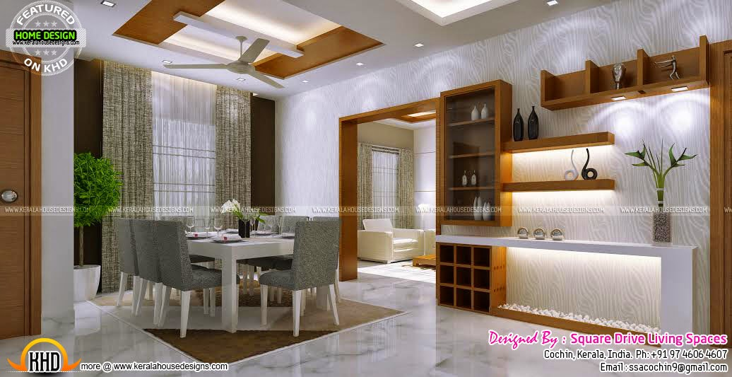 April 2015 kerala home design and floor plans for Simple dining hall design