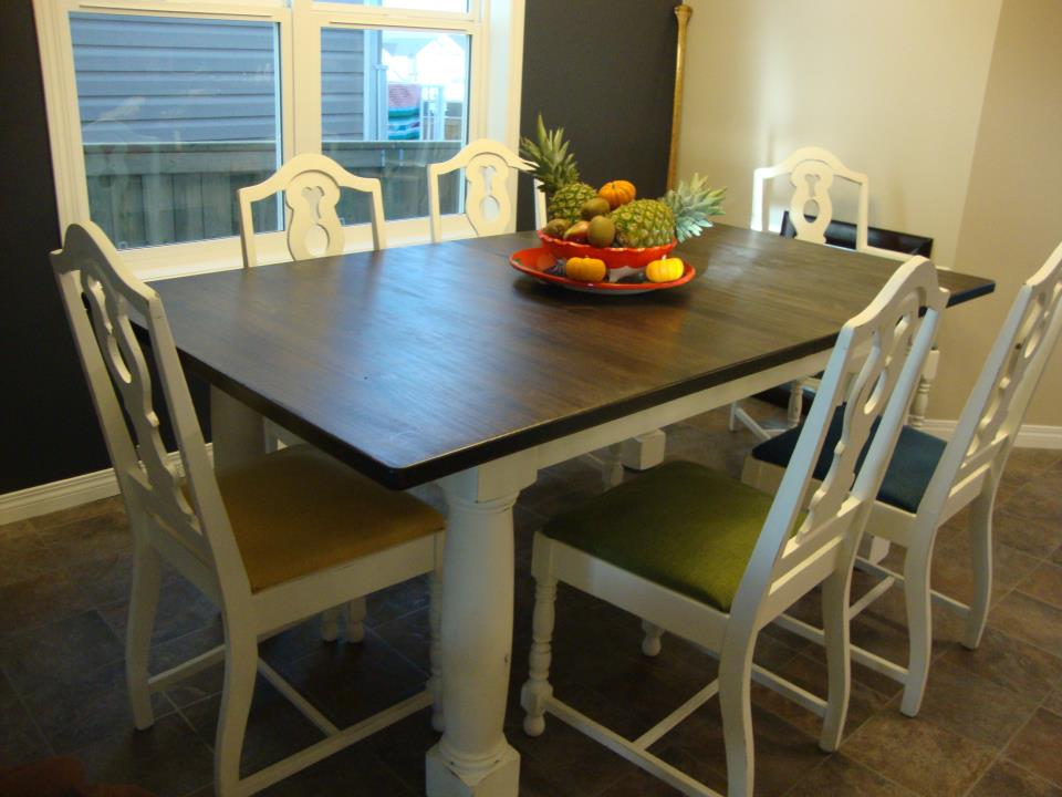Kelly miller creations my own kitchen table first refinishing project - Refinishing a kitchen table ...