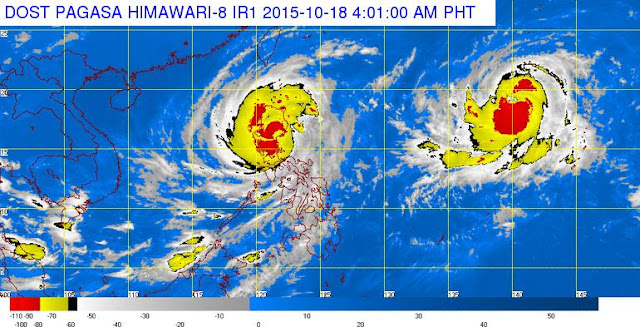 Super Typhoon Lando makes landfall over Casiguran, Aurora