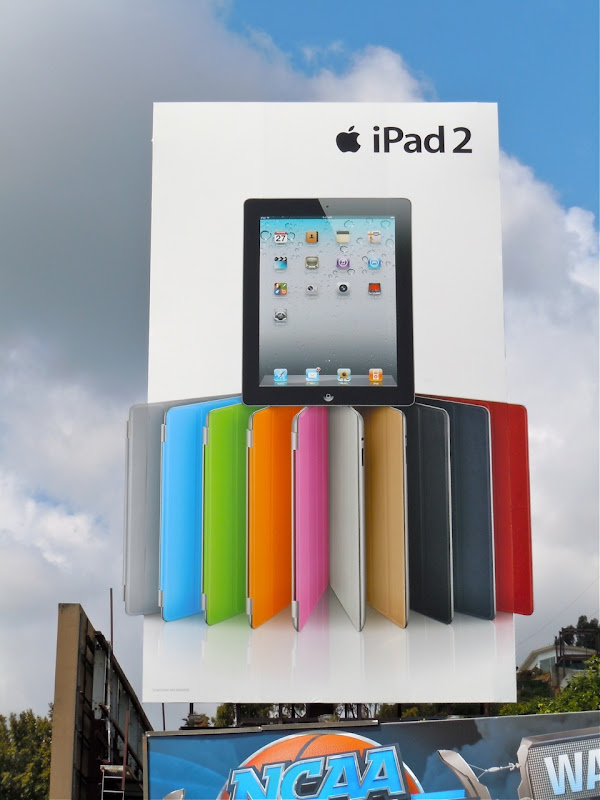 Colour iPad2 billboard
