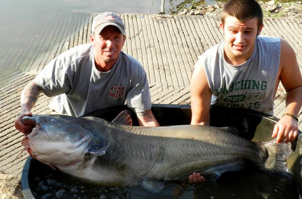 Mid america live catfishing couple holds two kansas state for Kansas fish records