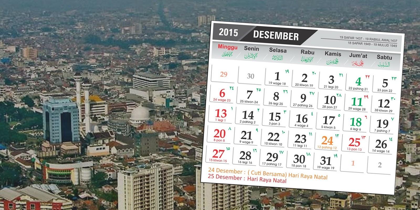 jadwal event Bandung Desember 2015