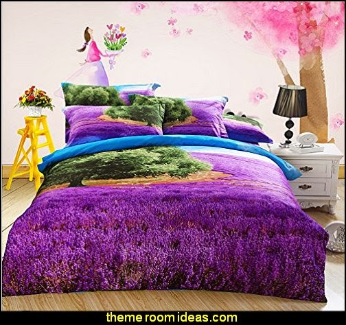 Field Lavender Cotton Bedding