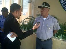 Corresponsal José Báez en busca de las noticias