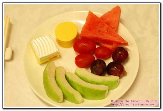 水果與芒果布丁蛋糕