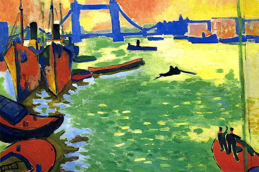andre derain london bridge In 1905 and 1906, derain traveled to london at the suggestion of the art dealer ambrose vollard to paint the houses of parliament and the thames, in changing.