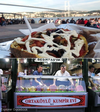 Makanan khas Turki kumpir kentang panggang