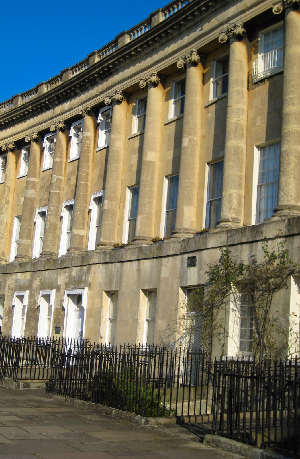 Thomas Linley's house on Royal Crescent, Bath