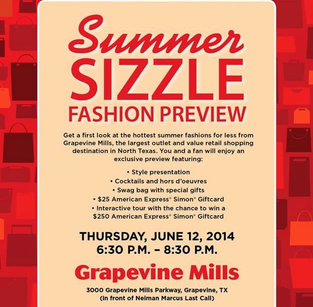 Grapevine Mills Summer Sizzle Fashion Preview 2014