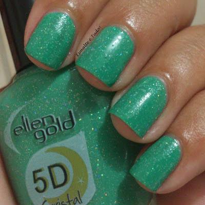 esmalte verde glitter