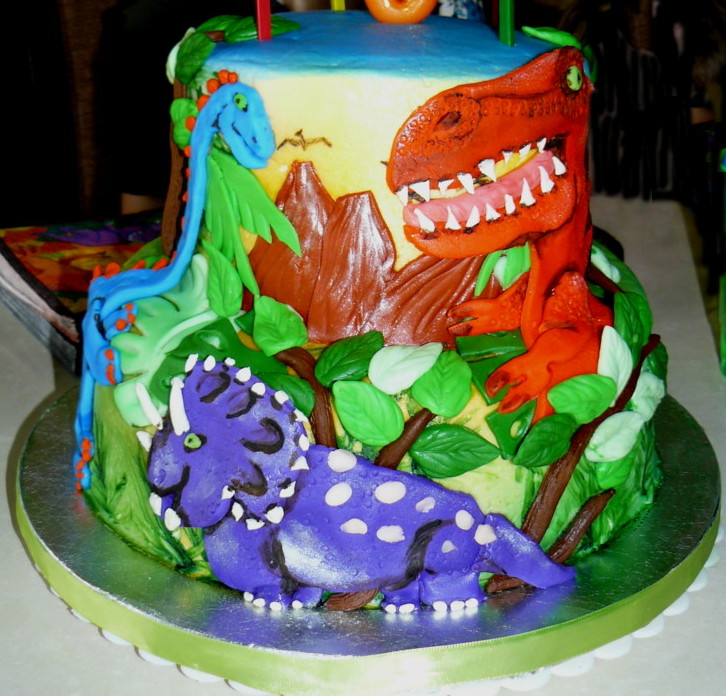 Dinosaur Themed Cake Decorating : The Woodlands Cake Boutique: Prehistoric Party!