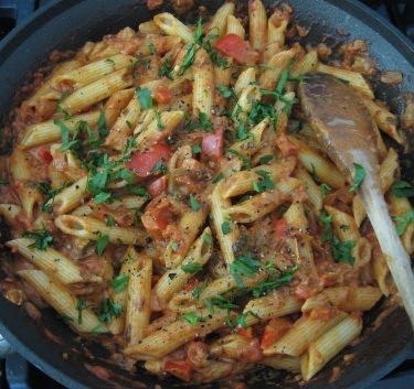 penne with cream cheese marinara