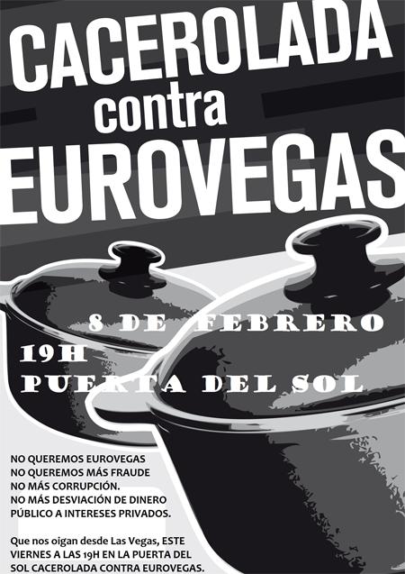 Viernes 8 de febrero cacerolada contra Eurovegas en Sol