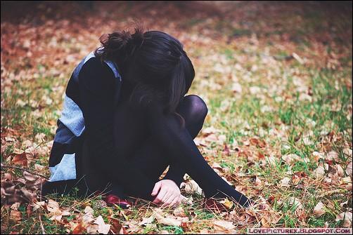 Sad alone girl