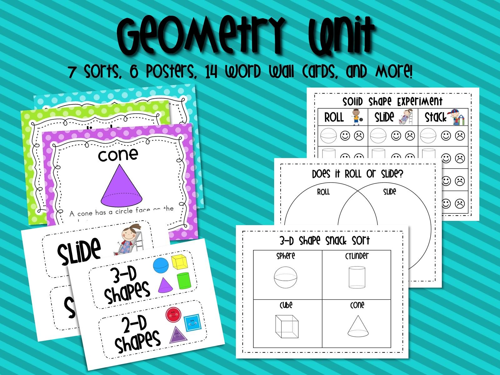 Mrs. Ricca\'s Kindergarten: Solid Shapes Geometry Unit & FREEBIE
