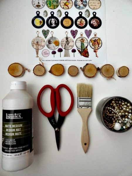 Altered Birch Magnets Supplies by Kimberly Jones