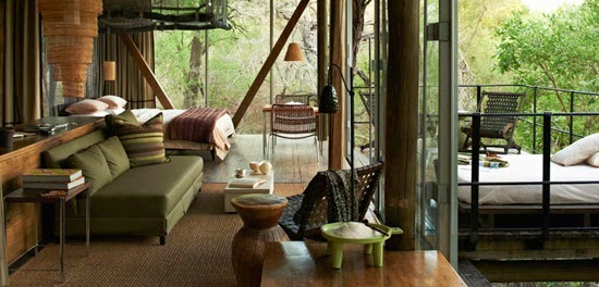 Safari Fusion blog | African green | Sophisticated khaki green at Singita Sweni Lodge, Kruger South Africa via Singita