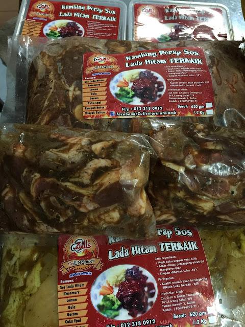 lamb chop, kambing peran sos lada hitam, kambing bakar