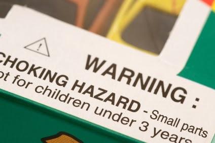Warning choking hazard toy