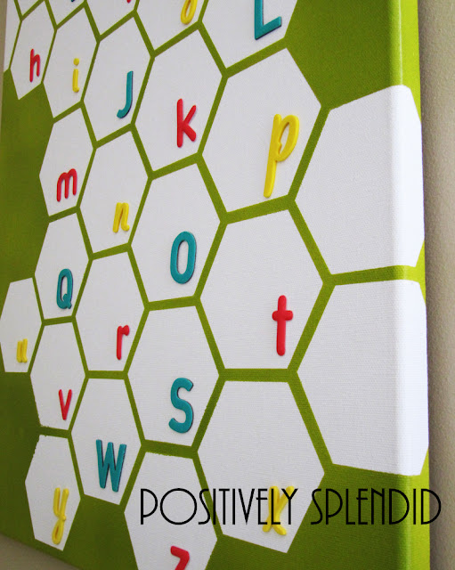 baby favor: honeycomb nursery wall canvas tutorial