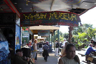 A street shot of the hippy town of Nimbin in Queensland, Australia.