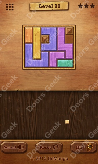 Wood block relax level 90 solution doors geek for 16 door puzzle solution