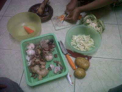 bahan-bahan membuat sup sayuran