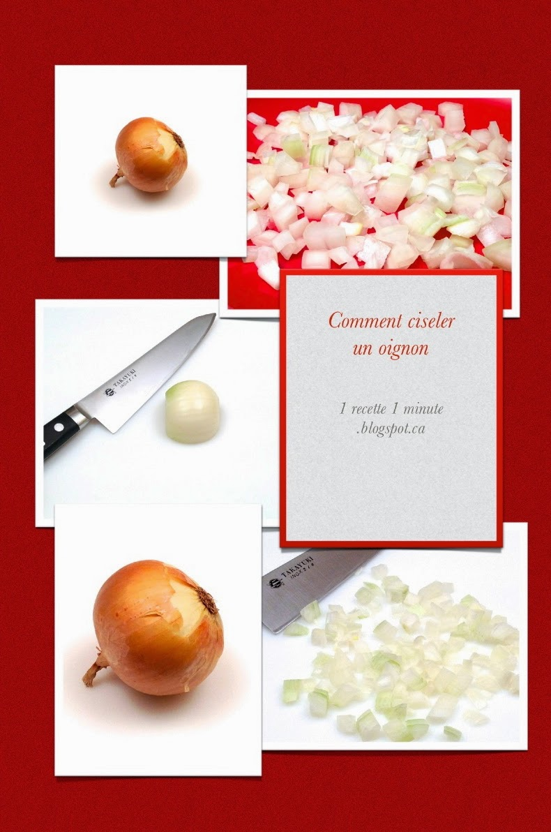 1 technique de cuisine comment ciseler un oignon for Technique de cuisine