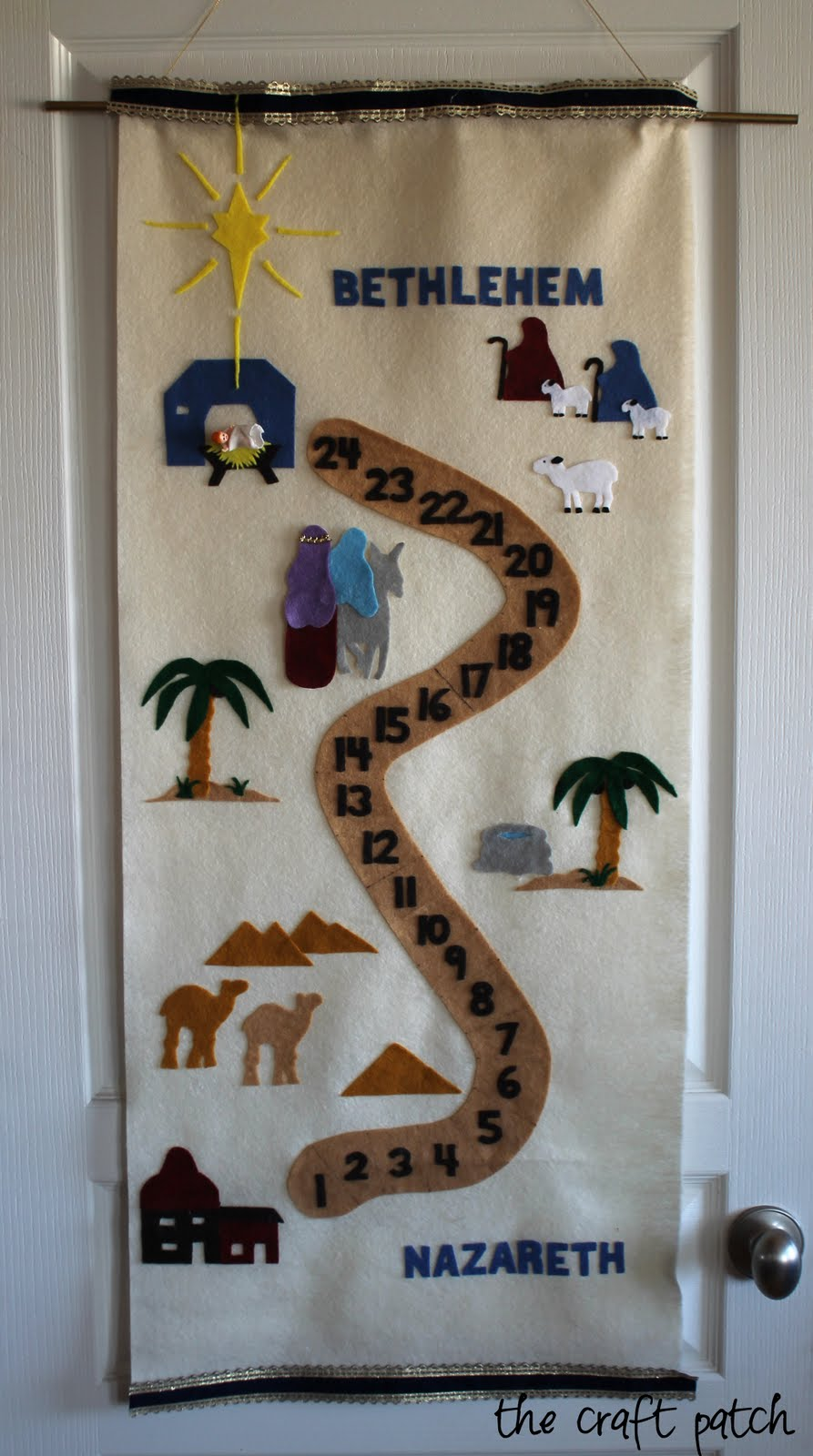 the craft patch nativity advent calendar pattern and tutorial